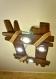 Lustre en bois est fait de bois naturel, plafonnier