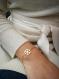 Bracelet flocon doré