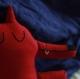 Loup rouge - création textile