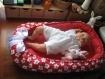 Nid bébé / baby nest : la fleur. lit bébé, 100% coton, lavable, made in france.