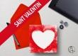 Carte postale de saint valentin «coeur» illustrée d'un coeur en pochoir