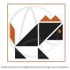 Affiche « lion » illustrée d'un tangram de lion orange