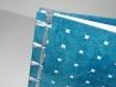 Carnet bleu reliure ruban format a5