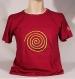T-shirt sambalou 100% coton bio : spirale rouge