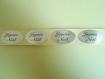 Lot 50 etiquettes stickers joyeux noel jaune or neuf
