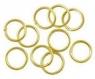 Lot 100 anneaux de jonction jaune or apprêt bijoux ring 0.8 mm neuf