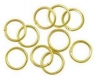 Lot 100 anneaux de jonction jaune or apprêt bijoux ring 0.5 mm neuf