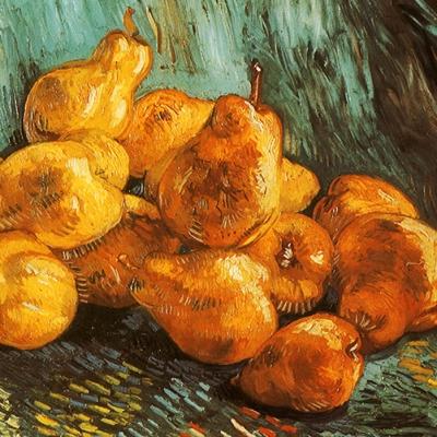 Set de table original, esthétique, lavable et résistant - peintres célèbres - vincent van gogh - nature morte aux poires.