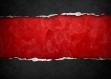 Set de table plastique, semi-rigide, design original, esthétique, lavable et résistant - coupe noire sur fond rouge.