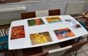 Set de table design, plastique, semi-rigide,  original, esthétique, lavable et résistant - peintures abstraites - vassily kandinsky - carrés et cercles concentriques.