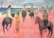 Set de table design, plastique, semi-rigide,  original, esthétique, lavable et résistant - peintres célèbres - paul gauguin - cavaliers sur la plage.