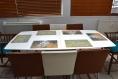 Set de table plastique, semi-rigide - peinture abstraite - piet_mondriaan, composition en rouge jaune bleu et noir.
