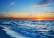 Set de table design, plastique, original, esthétique, lavable et résistant - semi-rigide. décoration de table - coucher de soleil sur la mer méditerrannée.