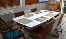 Set de table design, plastique, pvc, semi-rigide, original, esthétique, lavable. linge de table. impressionnistes - claude monet.  champ de coquelicots (2).