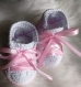 Chaussons blanc style baskets