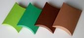 Lot de 10 boites à dragées vert menthe (coussin, oreiller) pour mariage ou baptême