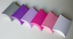 Lot de 10 boites à dragées violet foncé (coussin, oreiller) pour mariage ou baptême