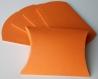 Lot de 10 boites à dragées orange (coussin, oreiller) pour mariage ou baptême