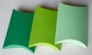 Lot de 10 boites à dragées vert pastel (coussin, oreiller) pour mariage ou baptême