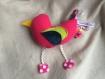 Peluche - doudou oiseau