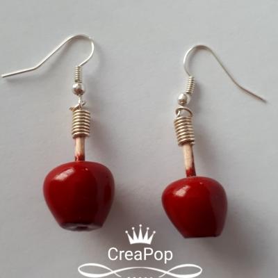 Boucles d'oreille pomme d'amour