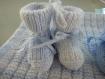Ensemble couverture avec deux paires de chaussons de nouveau-né