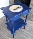Coiffeuse ou table de travail bleu
