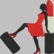 La femme et son tube de rouge