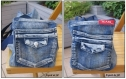 Sac polochon en jean recyclé