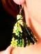 Boucles d'oreille pompon - etoiles