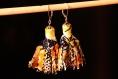 Boucles d'oreille pompon - lantana