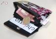 Porte-monnaie iris - tissu/wax et simili cuir