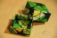 Boîte etoiles en tissu wax enduit