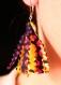 Boucles d'oreilles pompon - curcuma