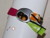Bracelet ruban de tissu ajustable-curcuma