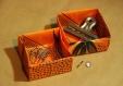 Boîte strelitzia en tissu enduit
