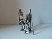 Sculpture de fer, peinture, décoration originale, figurine unique, idée cadeau