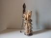 Sculpture métal et bois flotté, création unique, décoration atypique, cadeau