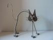 Sculpture en fer, chat, création orignale, décoration maison
