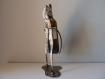 Porte bouteille en métal, présentoir bouteille, figurine en métal