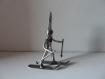 Sculpture en métal, le skieur, décoration unique, maison, sport