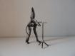 Sculpture en fer musicien, création unique, figurine en fer, décoration originale