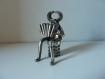 Sculpture, fer, musicien, accordéon, orchestre, musique
