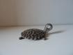 Sculpture en fer, tortue, chaînes, unique