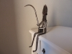 Sculpture fer, poisson, pecheur, pêche, cadeau, noel, original