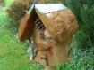 Nichoir à mésanges, bois naturel, déco jardins, bird house, utile et décoratif