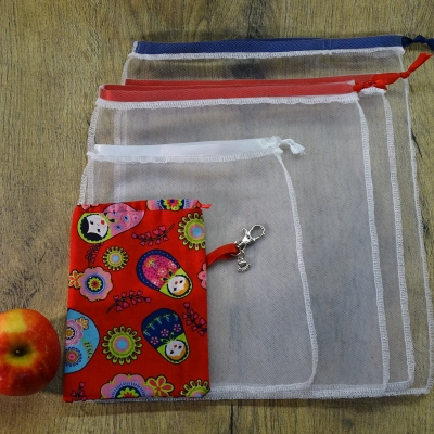 Ensemble sac à légumes, sac à vrac, zéro déchets