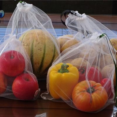 Sac à légumes, sac à vrac zéro déchets, ensemble de 5 poches réutilisables, filet à fruit