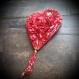 Broche coeur, grand coeur rouge
