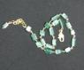 Chaîne de cheville or 14k et perles en pierres de gemme